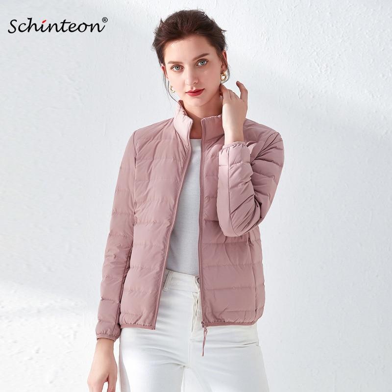2020 Schinteon Ultra fino algodón Down chaqueta 90% plumón de pato blanco prendas de vestir delgadas casuales con cuello alto de alta calidad Reductor/disminución/reducción del ruido de la máquina de sonido del vecino de arriba/eliminador de sonido/silenciador de golpe de ruido