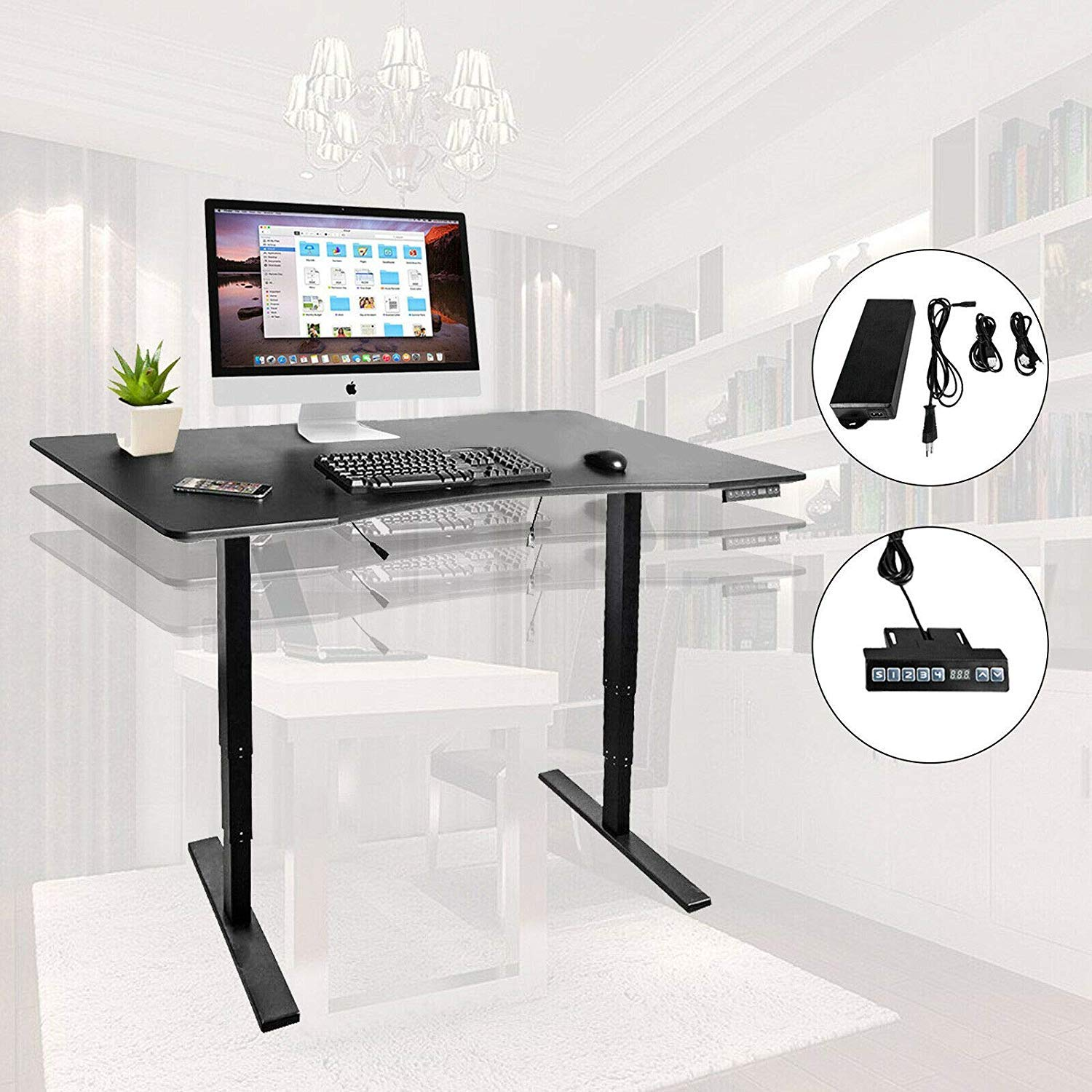 3-Stage Standing Up Desk  Electric Stand Up Desk Frame/Dual Synchronous Motor ergonomic with Memory Control