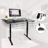 3 Stage Standing Up Desk Electric Stand Up Desk Frame/Dual Synchronous Motor ergonomic with Memory Control