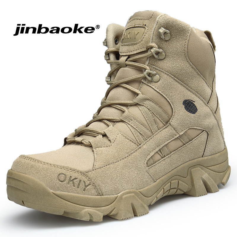 New Men Special Forces Tactical Combat Army Military Boots Brand Outdoor Hiking Shoes Non slip Mountain Trekking Sport Boots|Hiking Shoes| |  - title=