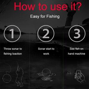 Image 3 - 送料無料 200 真新しい大画面ドットマトリックスフィッシュファインダースマートソナーセンサー、ワイヤレス魚群探知送料無料