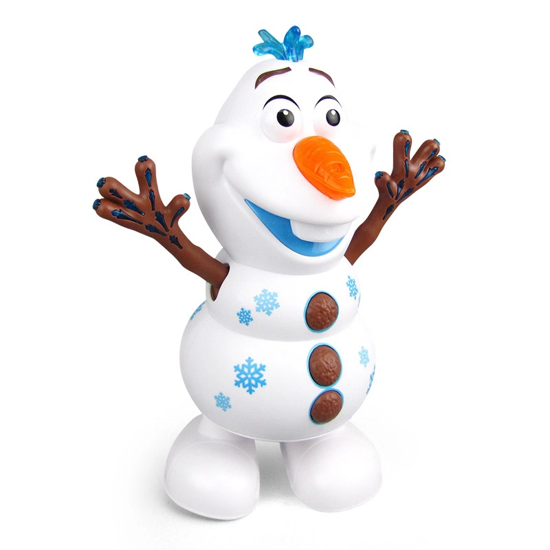 Frozen Dancing Snowman Olaf Robot With Led Music Flashlight Electric Action Figure Model Kids Toy For Children Christmas Gift
