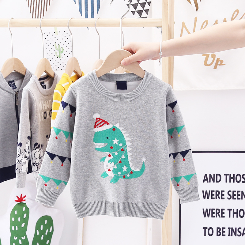 2020 Autumn Winter Christmas Kids Sweaters Knitting Pullover Baby Children Clothes Toddler Girls Fleece Soft Warm Sweater 3-10Y 5