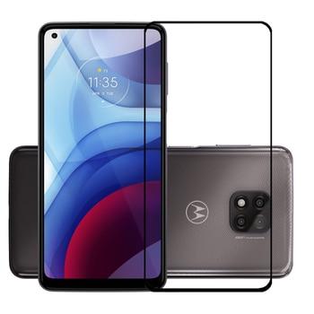 Protectores de pantalla de cubierta completa para Motorola Moto G Power (2021), película de vidrio templado protectora a prueba de arañazos
