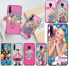 CUTEWANAN JoJo Siwa Bow Joelle Joanie Black Soft Phone Case for Huawei P40 P30 P20 lite Pro Mate 30 20 Pro P Smart 2019 prime