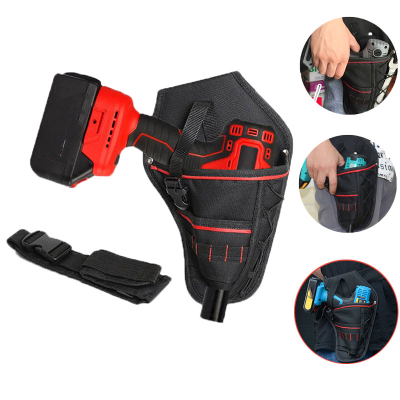 Multi-functional Waterproof Drill Holster Waist Safety Tool Bag Electric Waist Belt Tool Pouch Bag For Wrench Hammer Screwdriver