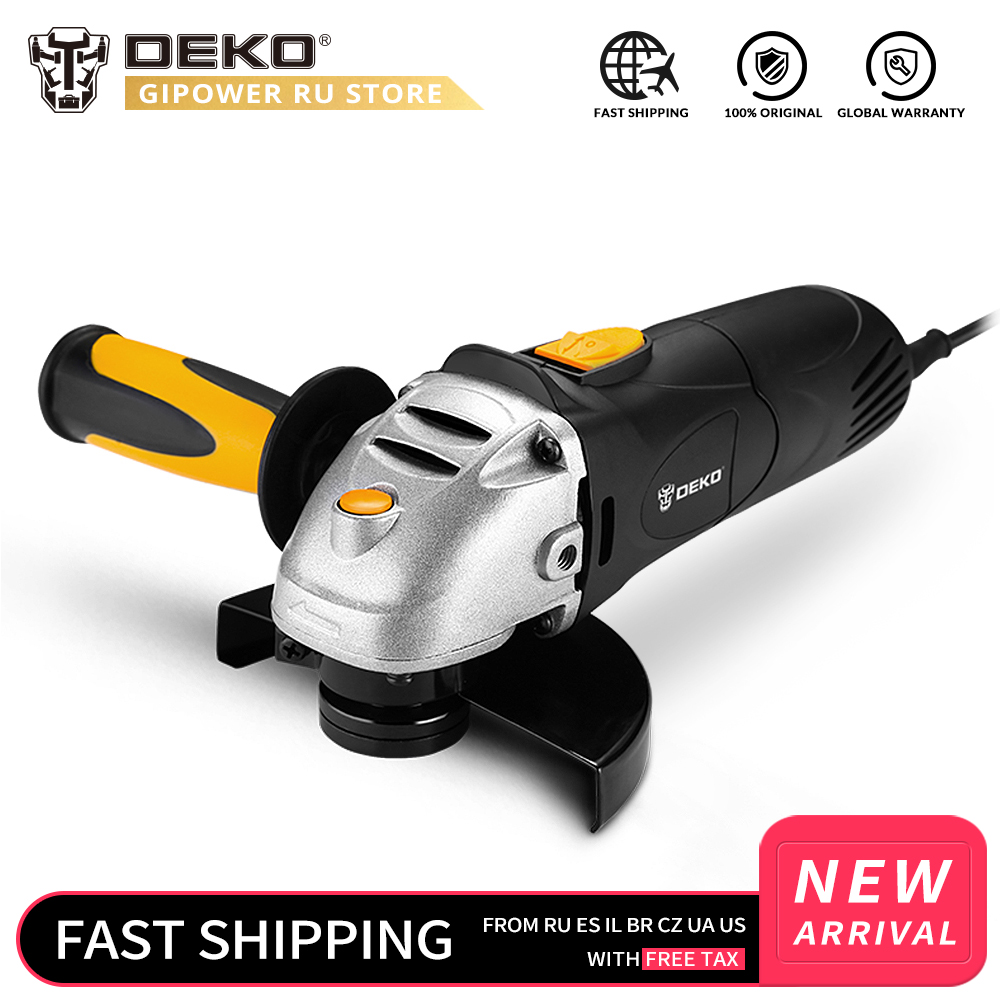 DEKOPRO 11000r/min Angle Grinder Electric Woodworking Grinding Grinder Machine Variable Speed Cutting Woodworking Tool