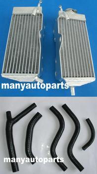 L amp RH grzejnik aluminiowy i czarny wąż garnitur dla HONDA CR125 CR 125 R CR125R 1987 1988 87 88 tanie i dobre opinie GPIRACING CN (pochodzenie) ALUMINUM 2 5kg