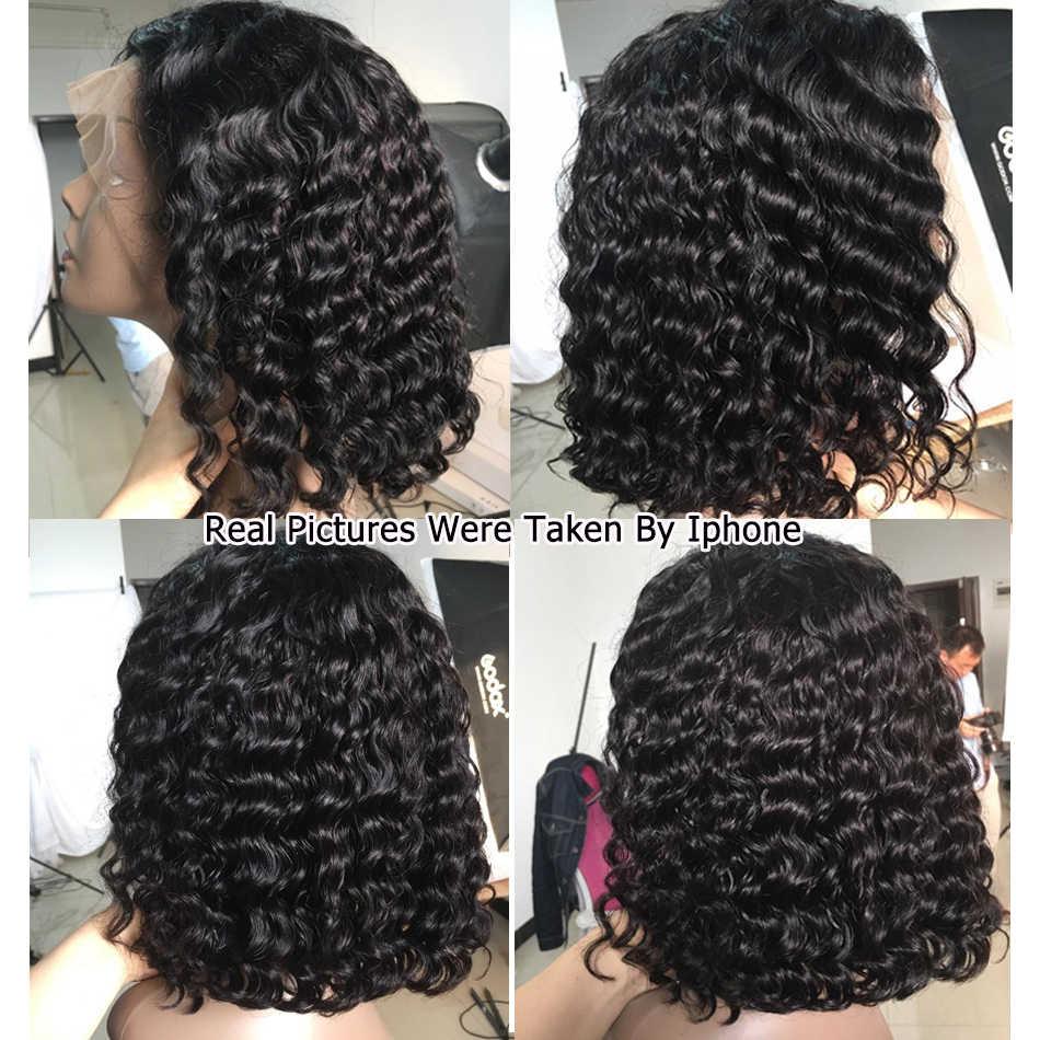 13x4 pelucas de encaje Bob corto pelucas de pelo Remy 150% brasileño se pueden teñir pelucas de cabello humano frontal de encaje predesplumado nudos blanqueados Karizma