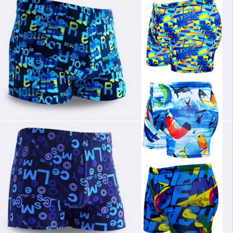 Large Size Yiwu Swimming Trunks Manufacturers Direct Selling Men Hot Springs AussieBum Floral Men's Qmilch Swimming Trunks Whole