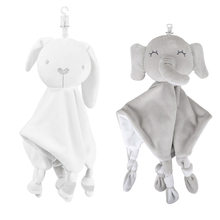 Jouets en peluche pour bébé de 0 à 12 mois, serviette douce pour apaiser les animaux, doudou, lapin, jouets de couchage pour bébés