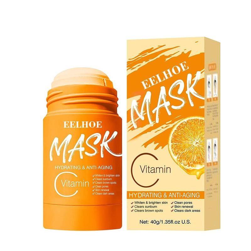 Витамин C уголь маска-Детокс для лица, палка глубокое очищение однотонный маски поры Очищающая глина зеленая маска палка глубокое Отбеливан...