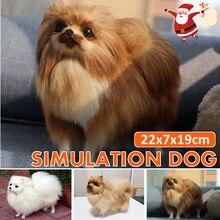 Realistische Grote Pluche Pommeren Speelgoed Simulatie Hond Pop Home Decoratie Kinderen Gift Fotografie Props Kerst Decoratie