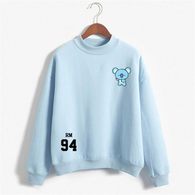 Sweatshirt For Women Bangtan Rm 94 Kpop Sweatshirt Hip Hop Casual Letters Printed Hoodies Clothes  Printed Long Sleeve Tops