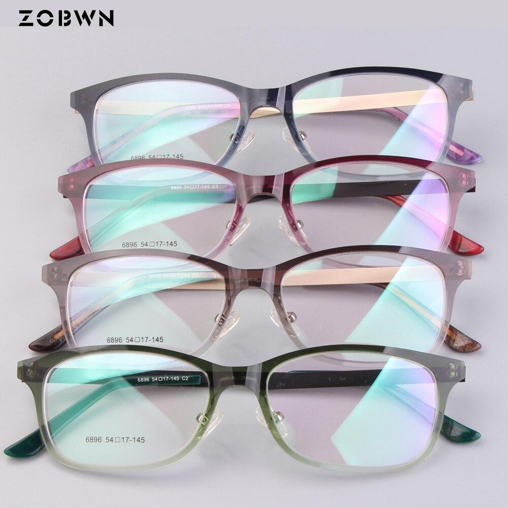 Mix color High quality glasses Nylon purple color glasses women gafas oculos de grau feminino male vintage montures de lunette