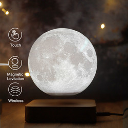 Ночная лампа, креативная 3D Магнитная левитационная Лунная лампа, ночсветильник, вращающаяся светодиодная Лунная плавающая настольная ламп...