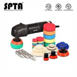 SPTA 3 полировальная машина мини машина полировщик для дома DIY авто микро роторная полировальная машина с 29 шт Автомобильная полировальная по...