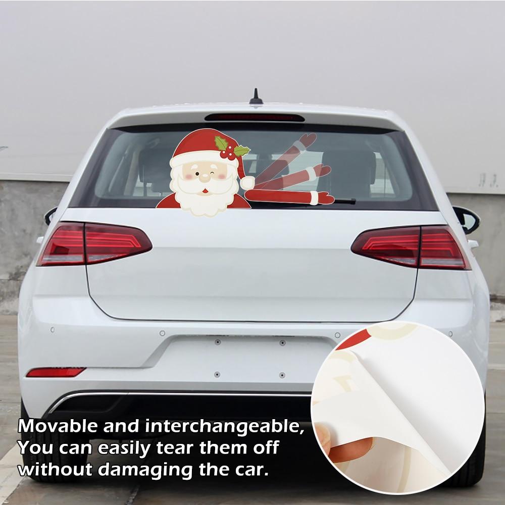 For Christmas Car Windshield Sticker Reflective Rear Window Wiper Decal Decor