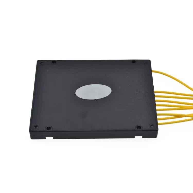 1x8 ABS مربع وحدة نوع FC/APC موصل الألياف مقسم PLC للألياف الضوئية
