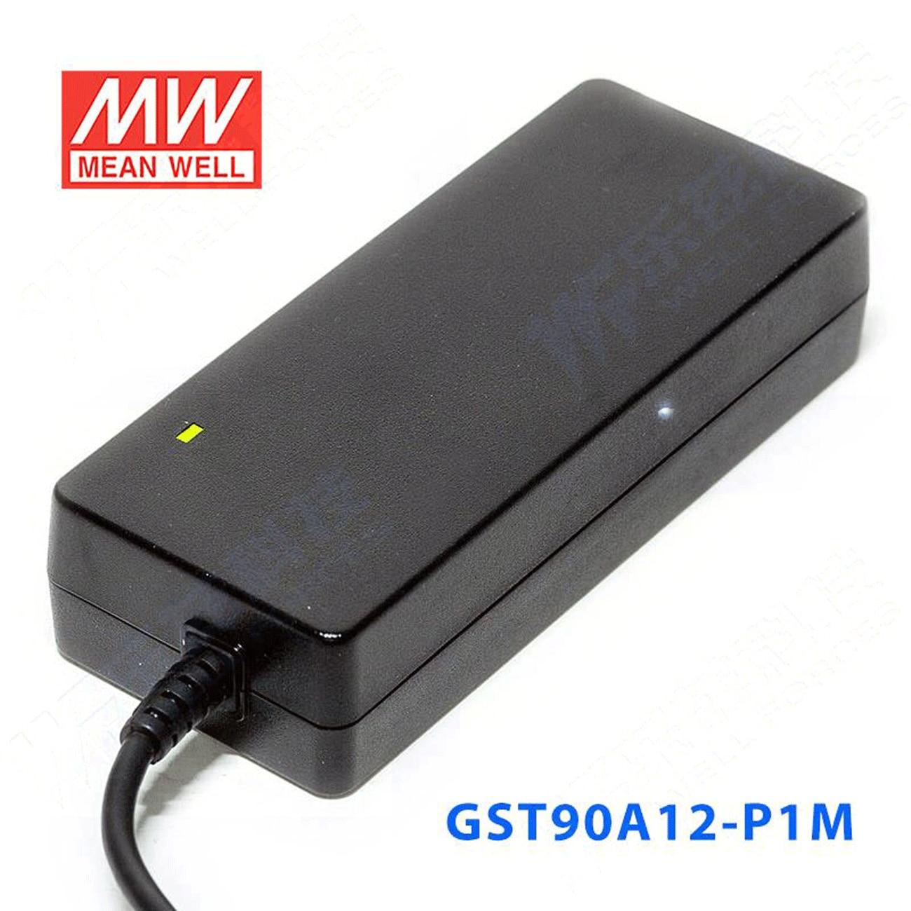 kindly MEAN WELL 6Pack GST90A12-P1M 12V 6.67A GST90A 12V 80W AC-DC High Reliability Industrial Adaptor