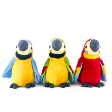 Plush-Toy Electroni-Bird Record Wings Talking-Parrot Speaking Stuffed Repeats Birthday-Gift