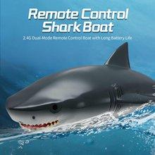 2 em 1 2.4g de alta velocidade de controle remoto tubarão barco elétrico rc navio lancha tubarão rc simulação barco modelo brinquedos para crianças
