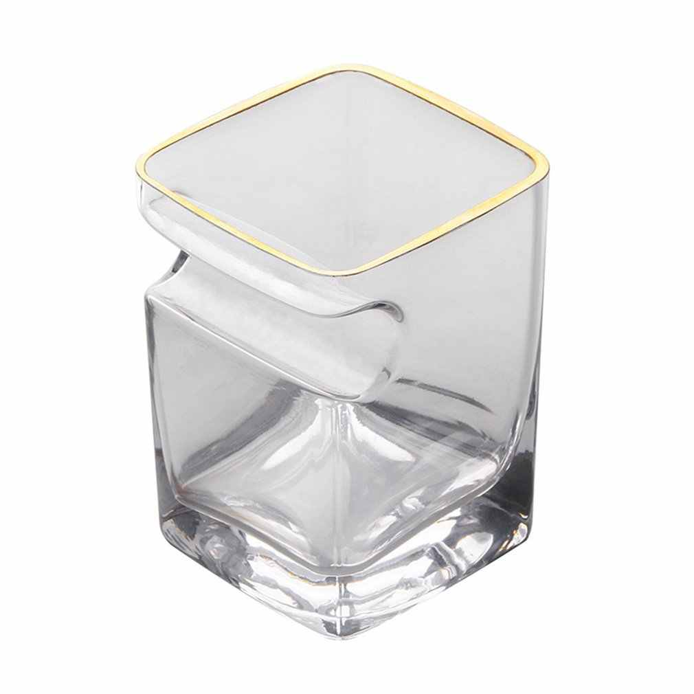 Crystal Glass Comfortable Taste Smooth Cigar Cup Wine Square Whisky Creative Glass Manufacturer Bar Cup