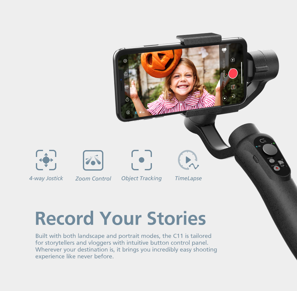 ZHIYUN CINEPEER C11 Gimbal Smartphone 3-Axis Handheld Gimbal Stabilizer Camera Gimbal Stabilizer For iPhone/Samsung/Xiaomi
