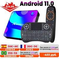Transpeed Android 11 TV BOX 2.4G e 5.8G Wifi 16G 32G 64G 128G 4k ricevitore TV 3D lettore multimediale HDR scatola molto veloce di alta qualità