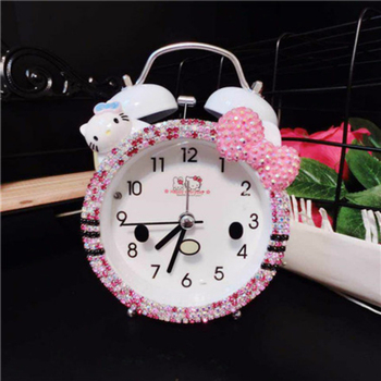 Alarm Clock lovely Retro Silent Pointer Clocks Round Number Dual Bell Loud Alarm Clock Bedside Night Light Home Decors Gift