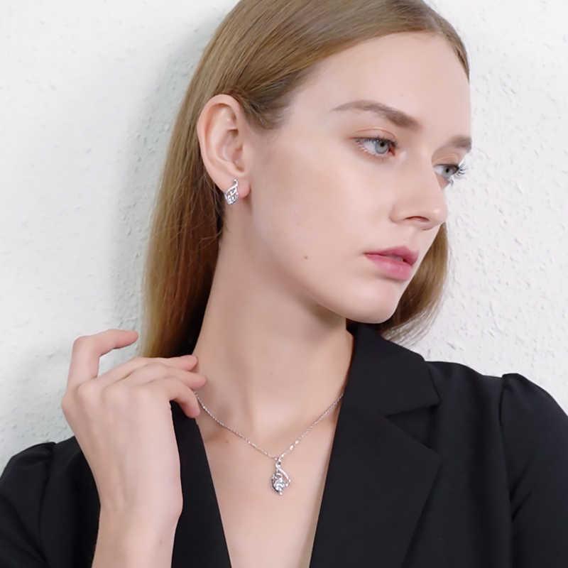[Czarny AWN] oryginalna 925 Sterling Silver kobiet kolczyk elegancka biżuteria w stylu vintage ślub stadniny kolczyki dla kobiet T006