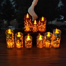 Get more info on the Santa Claus Small Candlestick Creative Christmas Simulation Small Candle Wind Light Carving Christmas DecorationsCM