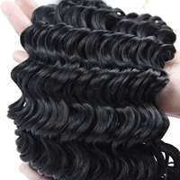 Ombre Braiding Hair Synthetic Extensions 3pieces/pack 10'' Freetress Deep Wave Curly Crochet Hair Braid Kanekalon