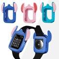 ステッチ漫画のシリコーンの腕時計 Apple 腕時計 5 44 ミリメートル 40 ミリメートルバンパー落下防止保護カバー iWatch シリーズ 4 44 ミリメートル 40 ミリメートル