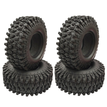 4PCS 1.9 inch Rubber Tyre 1.9 Wheel Tires 108X40MM for 1/10 RC Crawler Traxxas TRX4 Axial SCX10 90046 AXI03007 yfan 4pcs d1rc 1 8 super grip rc crawler 3 2 inch rc thick wheel tires with sponge for 1 8 rc crawler and 1 10 axial km2 wraith