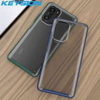 KEYSION-funda trasera del teléfono para Redmi K40 Pro + Plus, mate, funda de teléfono para Xiaomi, POCO F3, 5G, Mi 11i, transparente, a prueba de golpes