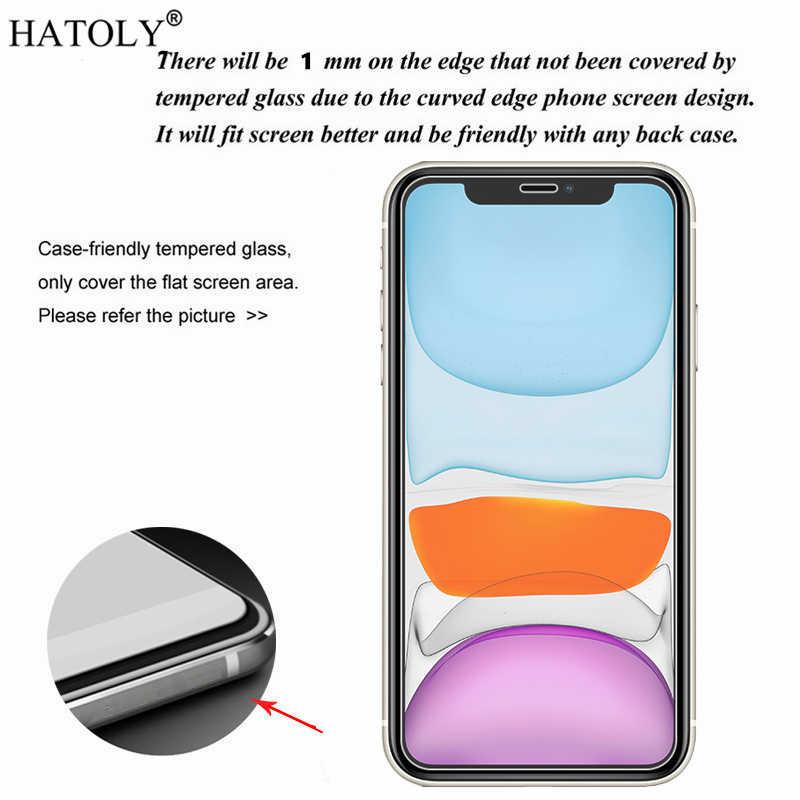 2 قطعة آيفون 11 الزجاج آيفون 11 برو ماكس الزجاج المقسى فيلم الهاتف حامي الشاشة واقية الزجاج آيفون 11 8 XS XR