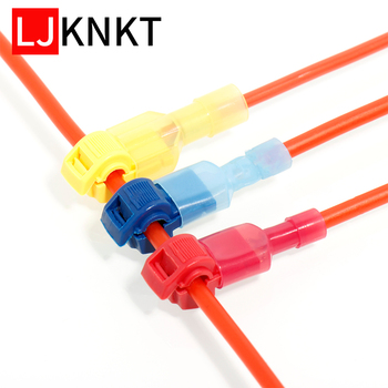 T Shape Snap Quick Splice Lock Cable Wire Electrical Connector Crimp Kit Scotch Waterproof Tool 60/100PCS Electric Set Terminals t shape snap quick splice lock cable wire electrical connector crimp kit scotch waterproof tool 60 100pcs electric set terminals