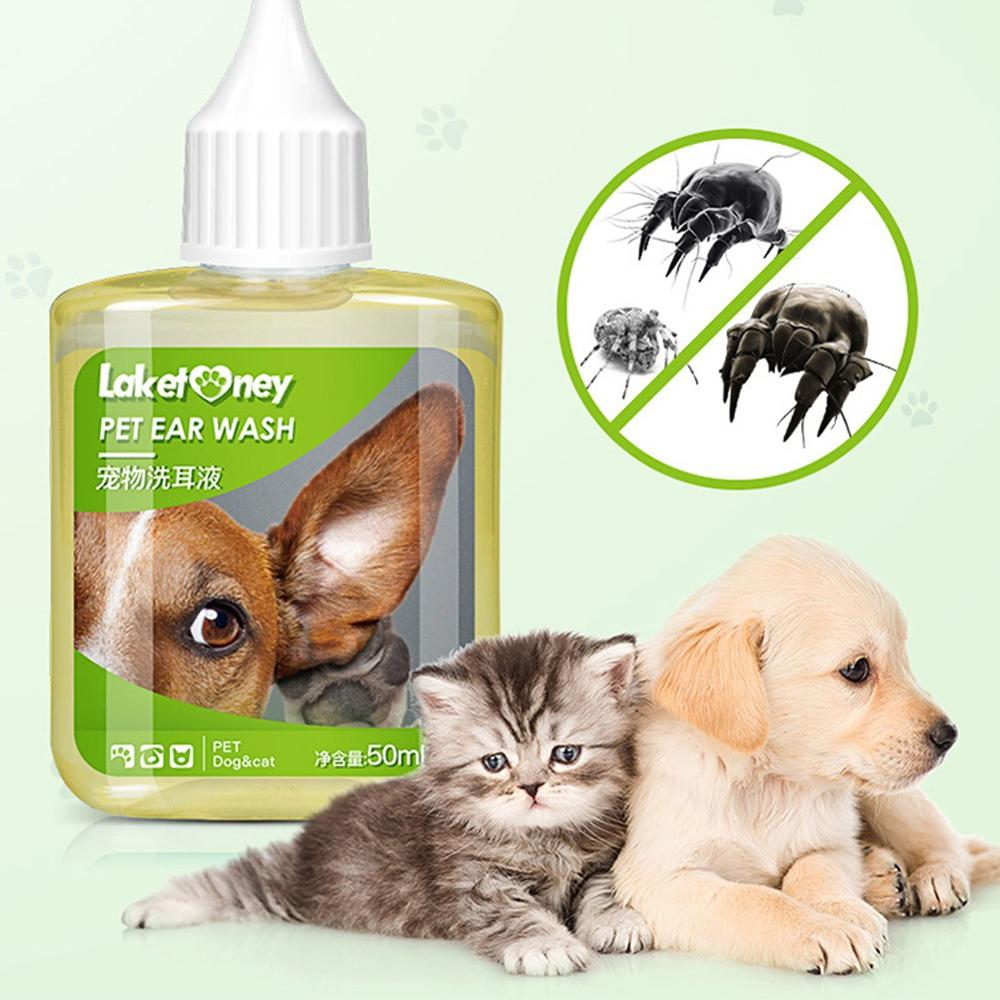 50ml Pet Ear Drops In Addition To Mites Pet Dog Cat Clean Ear Wash Liquid Pet Supplies To Prevent Ear Diseases
