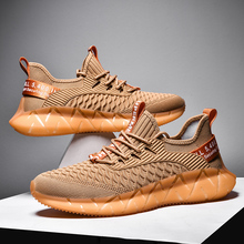 Popcorn Sole Lightweight Flying Weave Sneakers for Sports Man Shoes