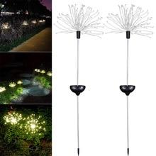 2шт 120LED Солнечный фейерверк свет всепогодный декоративный для сада газон поле XB 66