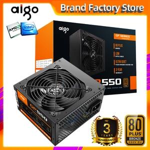 Image 1 - Блок питания Aigo gp550 max для настольного ПК, 750 Вт, PSU, PFC, тихий вентилятор, ATX, 24 контакта, 12 В, 80PLUS, бронзовый блок питания для игрового ПК SATA