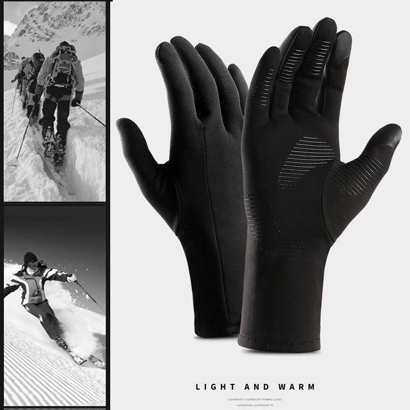 Мужские и женские утепленные перчатки, теплые уличные перчатки с сенсорным экраном для верховой езды, зима 2019
