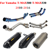 Motorcycle Exhaust For Yamaha T MAX500 T MAX530 TMAX 500 TMAX 530 With Muffler Full System Escape Connector Link Pipe Exhaust