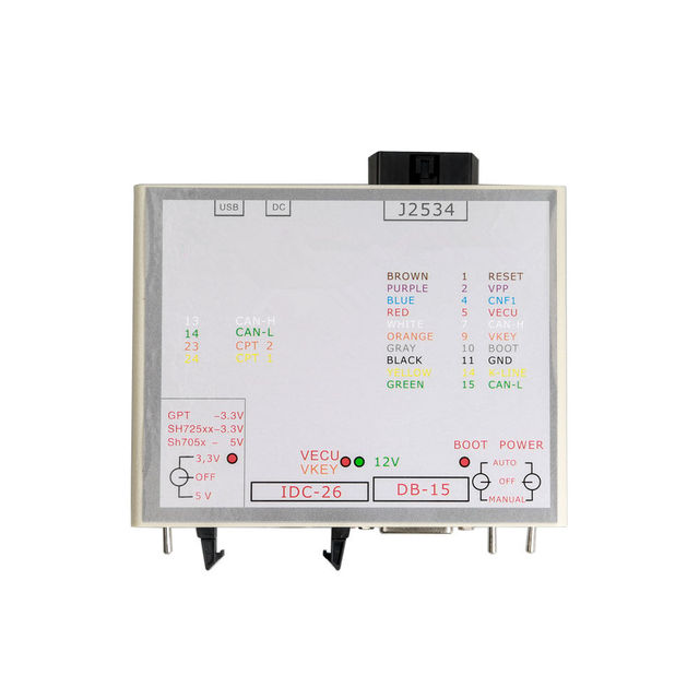 2019 J2534 adaptador PowerBox uso para programador KTM caja de alimentación KTM para KTM JTAG funciona para KTM eco a J2534 caja de dispositivo KTM FLASH