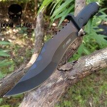 ציד קבוע להב סכין 8CR13 נירוסטה טקטי סכין, ישר סכין ציד קמפינג הישרדות חיצוני נשיאה יומית