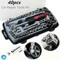Набор торцевых ключей BINOAX, комплект гаечных ключей с храповым механизмом 40 шт.