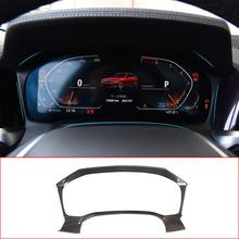 Für BMW 3 Serie G20 G28 2019 20 ABS Chrom/Carbon Fiber Textur Dashboard Dekoration Abdeckung Trim Rahmen innen Auto Zubehör