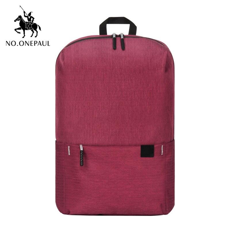 NO.ONEPAUL Mochila, женский рюкзак для путешествий, женский рюкзак, модный, кольцо, украшение, на плечо, для книг, сумка, легкая, повседневная сумка - Цвет: PCKG red