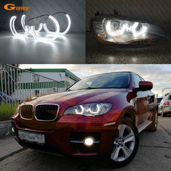 цена на For BMW X6 E71 E72 X6M X5 E70 X5M 2008-2014 Excellent DRL DTM M4 Style led Angel Eyes kit halo rings Ultra bright